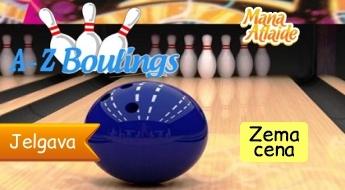 Boulinga spēle draugu lokā A-Z BOULINGS Jelgavā sākot no 2.50€!