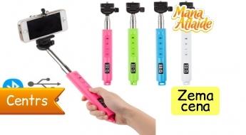 Bluetooth selfiju monopods par 5.99€!