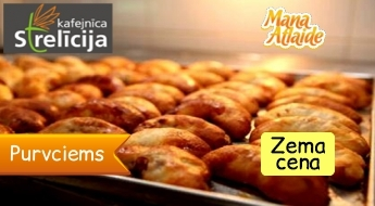 30 pīrādziņi, asorti par 4.30€ - palutiniet sevi ar garšīgiem konditorejas izstrādājumiem no kafejnīcas Strelīcija!