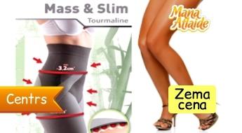 Slaidinošie pusgarie legingi ar turmalīnu MASS & SLIM tikai par 17.99€!