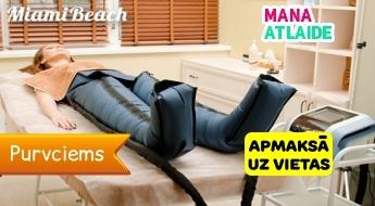 Limfodrenāžas zābaki: kājas, gurni, vēders, rokas tikai 3€/40 minūtes salonā Miami Beach!