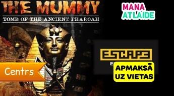 """Dalība kvestā """"The Mummy"""" no 25€/ 2-5 cilvēku kompānijai no """"Escape Room""""!"""