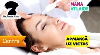 """Ultraskaņas sejas tīrīšana + sejas masāža par 14.90€ salonā """"Sky Beauty Studija""""!"""