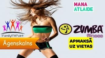 """Zumba Fitness - 4 nodarbības tikai par 22€ + viena nodarbība bez maksas, studijā """"FamilyFitPoint""""!"""