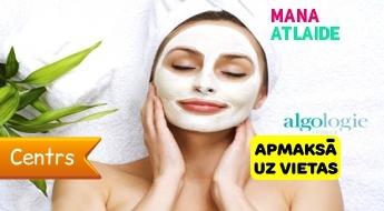 """Mitrinoša procedūra sejai ar aļģēm un masku par 16.90€ salonā """"Stilo""""!"""