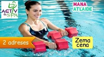 """Ūdens aerobika! Īpašs piedāvājums dāmām no """"Activ&Spa"""" tikai 6€!"""