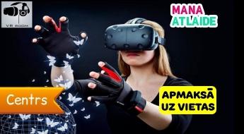"""Virtuālās realitātes istaba (1.5 stunda) par 35€ komandai līdz 10 cilvēkiem no """"VR room""""!"""