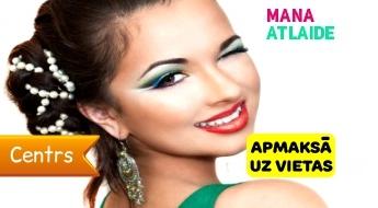 """Vakara frizūra + make-up + manikīrs ar Gelish tikai 38€ salonā """"Sirēnas""""!"""
