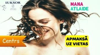 """Sieviešu matu griezums + krāsošana + ieveidošana no 7.90€ salonā """"Luksor""""!"""