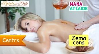 Klasiskā muguras masāža ar medu tikai 9.90€ salonā Dzintara Pērle!
