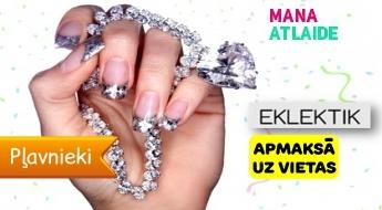 Manikīrs ar Swarovski kristāliem Jauna Gadu dizainu par 12.50€  + Gelish salonā ''Eklektik''!