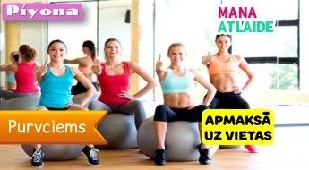 """Yoga, Pi-Yo vai Pilates + fit ball pieaugušajiem un bērniem 5€ studijā """"Piyona""""!"""