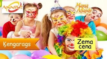 """Bērnu ballītes rotaļu laukumā """"Annels"""" t/c """"Dole"""" sākot no 5.53€ par bērnu!"""