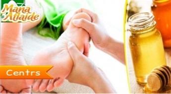 Ārstnieciska relaksācija: pēdu refleksoterapija + dāvanā kāju masāža tikai 9.90€!