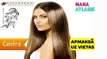 """Cocochoco keratīna matu taisnošana par 29.90€ salonā """"Moli""""!"""