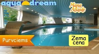 Aquadream: baseins +ūdens procedūras +sauna +džakuzi tikai 6.99€!
