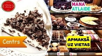 Gaisīga Oreo kūka + Latte kafija tikai par 2.50€ Cherry Berry beķerejā!