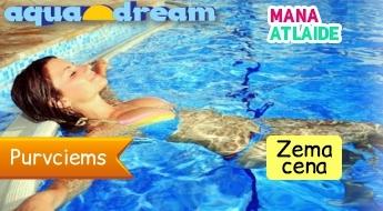 Aquadream SPA centrа apmeklējums tikai par 8€: baseins+ kaskāde+ pirts/sauna+ džakuzi!