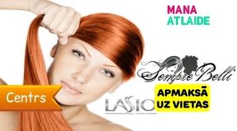 """Profesionāla matu taisnošana ar LASIO keratīnu par 29.90€ salonā """"Sempre Belli""""!"""