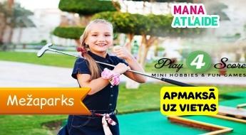 Aizraujoša minigolfa spēle Mežaparkā sākot no 3€/ 1, 2 vai 4 personām 18 laukumos !