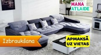 Tīrība un spodrība Jūsu mājās! Dīvānu ķīmiskā tīrīšana 11.90€!