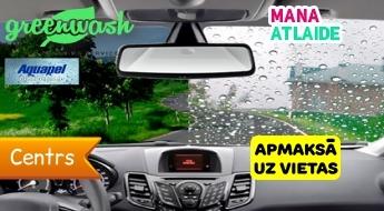 """Vējstikla pārklāšana ar ūdens atgrūdošu līdzekli par 9.90€ automazgātuvē """"Greenwash""""!"""
