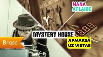 """Loģikas spēlē """"MYSTERY HOUSE"""" no 24.50€/ 2-5 cilvēku kompānijai: laika mašīnā, slepenajiem aģentiem vai ķīmiķiem!"""