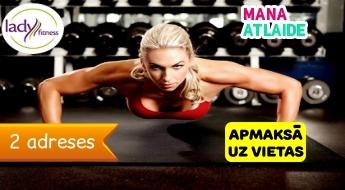 """Funkcionālais treniņš + fitness tests par 5€ studijā """"Lady Fitness""""!"""