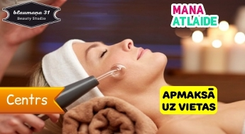 """Sejas masāža ar Darsonval par 11.90€ salonā """"Beauty Studio""""!"""