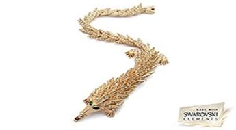 """Rokassprādze """"Zelta Pūķis"""" ar unikālu Swarovski Elements™ kristālu dizainu unikālai dāmai!"""
