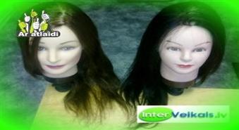 InterVeikals.lv: Manekens-galva ar brūniem vai melniem matiem ar atlaidi!