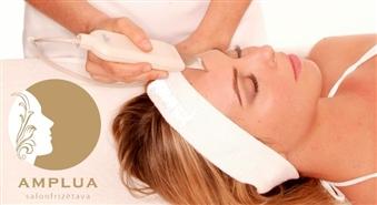 Maiga un efektīva sejas tīrīšana ar ultraskaņu skaistumkopšanas salonā AMPLUA ar 50% atlaidi!