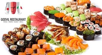 Velnišķīgi laba iespēja – suši un suši komplekti Ls 10 vērtībā GODVIL RESTAURANT par 50% lētāk!