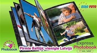 EIROFOTO piedāvā: izgatavo personalizētu fotogrāmatu ar Latvijā vienīgo EIROFOTO PHOTOBOOK tehnoloģiju tikai 15 MINŪŠU laikā par 54% lētāk! Saglabā skaistākās atmiņas!