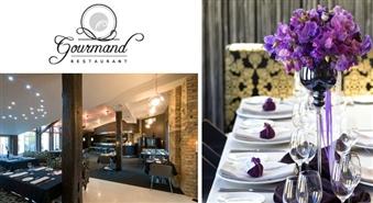 Izsmalcinātas vakariņas ar īpaši piemeklētu vīnu baudīšanu divām personām restorānā GOURMAND par 50% lētāk! Izbaudi saulainās Dienviditālijas garšu!