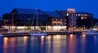 Divvietīgs biznesa klases numurs + brokastis izcilajā dizaina viesnīcā PROMENADE HOTEL, Liepājā, par 68% lētāk! Atpūties ar stilu un 5 zvaigznēm līdz pat septembra beigām!