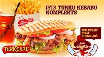 TURKEBAB SUPERAKCIJA!!! Neatkārtojamais Doner kebabs, kartupeļi frī un turku tēja tikai par Ls 1.29 jebkurā no 3 TURKEBAB filiālēm! Pērc līdz pat 8 komplektiem sev un draugiem par 57% lētāk!