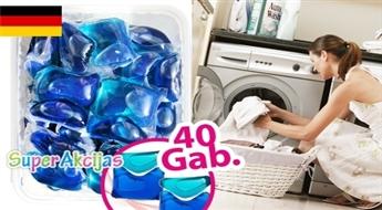 Inovatīvs Vācu līdzeklis veļas mazgāšanai - ūdenī šķīstošas kapsulas! Noņem traipus un saglabā krāsu spilgtumu.