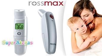 """Universāls bezkontakta infrasarkanais termometrs """"Rossmax"""" ķermeņa, vai ūdens temperatūras mērīšanai!"""