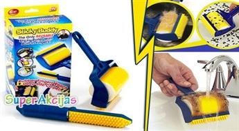 """""""Sticky Buddy"""" putekļu tīrīšanas rullīšu komplekts ar lipīgu silikona virsmu!"""