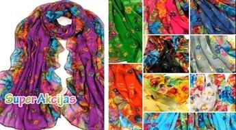 Eleganta, viegla un krāsaina šalle - košs akcents Jūsu garderobē!