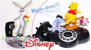 Oriģināls bezvadu animētais telefons Bugs Bunny vai Winnie Pooh!