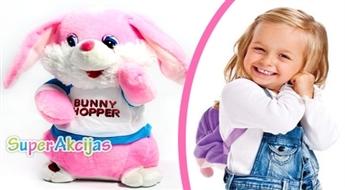 """Mīkstā rotaļlieta """"Zaķis""""! Dzied un kustina ausis!"""