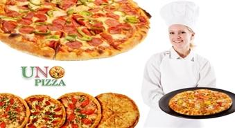 """SUPER liela (50cm) un garšīga salami PICA, gatavota no dabīgām izejvielām, no picērijas """"Uno Pizza"""" par 3.79 Ls!"""