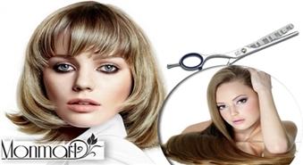 Sieviešu matu griezums + veidošana un maska matiem skaistumkopšanas salonā Monmart tikai par Ls 8,49!