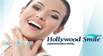 "Mutes dobuma kompleksā higiēnas procedūra ar 50% atlaidi Stomatoloģijas klīnikā ""Hollywood Smile""!"