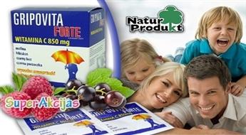 Gripovita Forte karstais dzēriens ar augstu C vitamīna saturu stiprinās aizsargspējas vai veicinās ātrāku izveseļošanos!