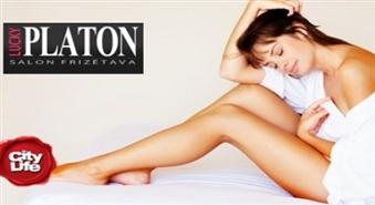 LUCKY PLATON: vaksācija padusēm +  kājām visā garumā vai dziļā bikini vaksācija – 61%