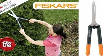 Sakop savu dārzu! Fiskars dārza šķēru komplekts: dzīvžoga šķēres + dārza grieznes -38%