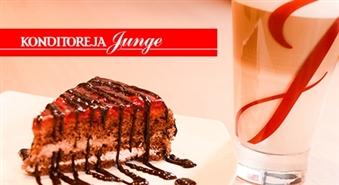 Aveņu kūka + Latte Macchiato XL rīdzinieku iemīļotajā konditorejā JUNGE.LV - 51%